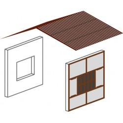 Remise légère en fer et béton à 1 voie, complément