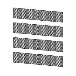 Barrières en béton, dessus en X