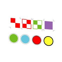 PLM Plaques carrés + disques
