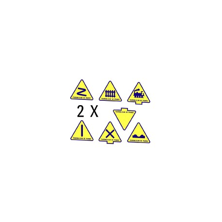 Panneaux routiers 1935 triangulaires