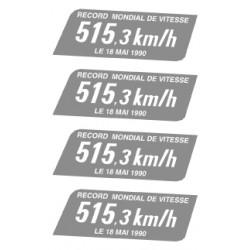 """Plaque """"record de vitesse"""" pour TGV 325 du record de 1990"""