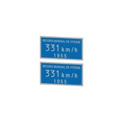 """Plaque """"record de vitesse"""" pour BB9004 et CC 7107 du record de 1955"""