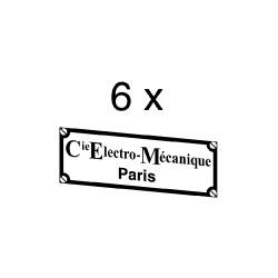 """Plaque constructeur """"Compagnie Electro-Mécanique"""""""