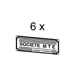 """Plaque constructeur """"Société M.T.E."""""""