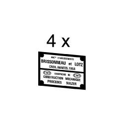 Plaques constructeurs pour loco BB 63000