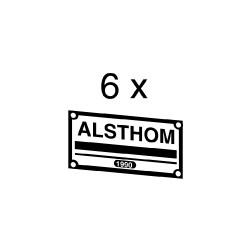 """Plaques constructeurs """"Alsthom"""" pour loco Sybic"""