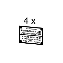 Plaques divers constructeurs associés pour loco BB 63500