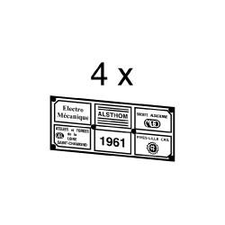 Plaques divers constructeurs associés pour loco 040 DG et BB 66000