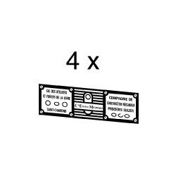 Plaques divers constructeurs associés pour loco 060 DA et CC 64000 ou 65500