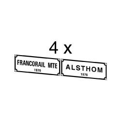 """Plaques divers constructeurs associés pour loco """"Nez Cassés"""" BB 7200 / 15000 / 22000"""