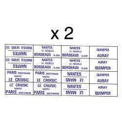 32 marquages itinéraire Ouest Montparnasse-Le Croisic et régionaux de Bretagne,