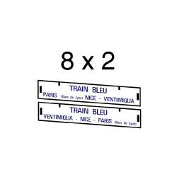 """16 marquages d'itinéraire pour """"Train Bleu"""""""