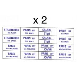 32 marquages d'itinéraire pour train Paris-Est et internationaux