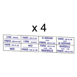 32 marquages itinéraire Sud-Est au départ de Paris vers Lyon/Marseille/Nice