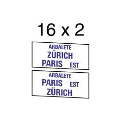 """32 marquages d'itinéraire """"L'Arbalète"""""""