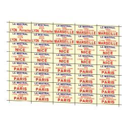 """32 marquages d'itinéraire """"Le Mistral"""" 1ère version"""
