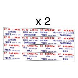 """32 marquages d'itinéraire EC39 """"Parsifal-Brel-Molière"""""""