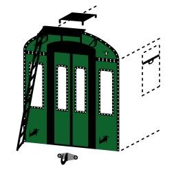 Extrémités de caisse OCEM à fenêtres et échelle