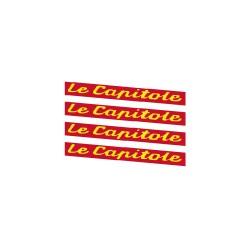 """4 plaques """"Le Capitole"""" peintes en rouge"""