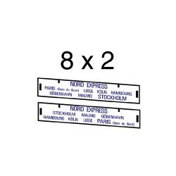 """16 marquages d'itinéraire pour train """"Nord-Express"""""""