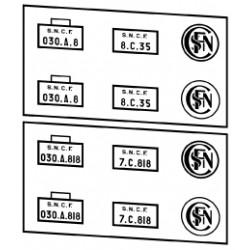 Plaques vapeurs SNCF 030