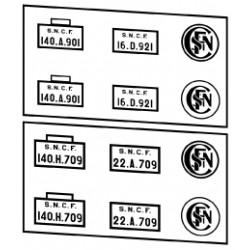 Plaques vapeurs SNCF 140 sauf 140C