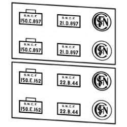 Plaques vapeurs SNCF 150 C et E