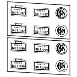 Plaques SNCF 141 R fuel