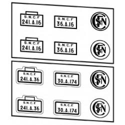 Plaques vapeurs SNCF 241 A