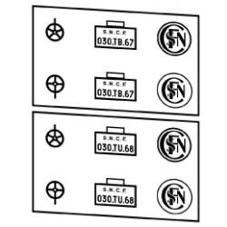 Plaques vapeurs locotenders SNCF 030 T
