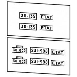 Plaques ETAT