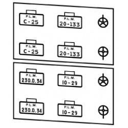 Plaques PLM 220 + 230