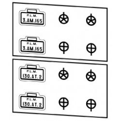 Plaques PLM locotenders