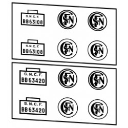 Locomotives diesel type BB 63000 et 63400