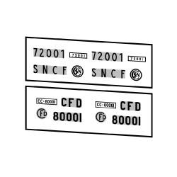 Locomotives diesel type CC 72000 et CC 80000