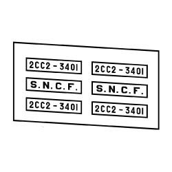 Locomotives électriques SNCF 2CC2 3400