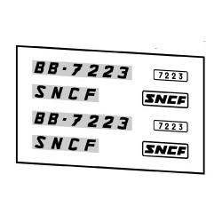 Locomotives électriques SNCF BB 7003 et 7200
