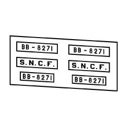 Locomotives électriques SNCF BB 8001 et 8100