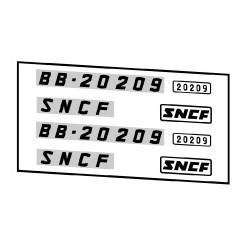 Locomotives électriques SNCF BB 20100 et 20200