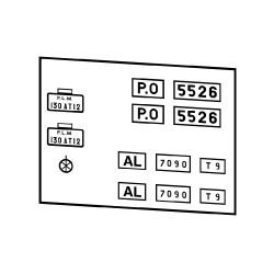 Plaques PO + PLM