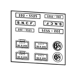 Plaques SNCF