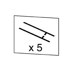 10 frotteurs droits long. 30 mm ABH