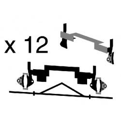 6 paires sabots freins et triangles