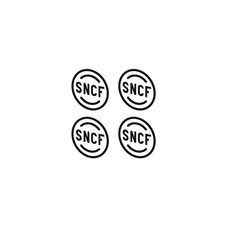 Macaron SNCF laiton origine dia. 4,8